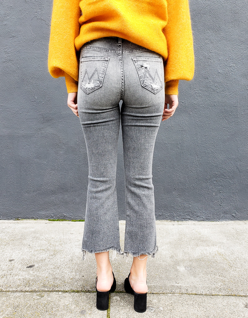Mother Denim Hustler Crop Step Chew
