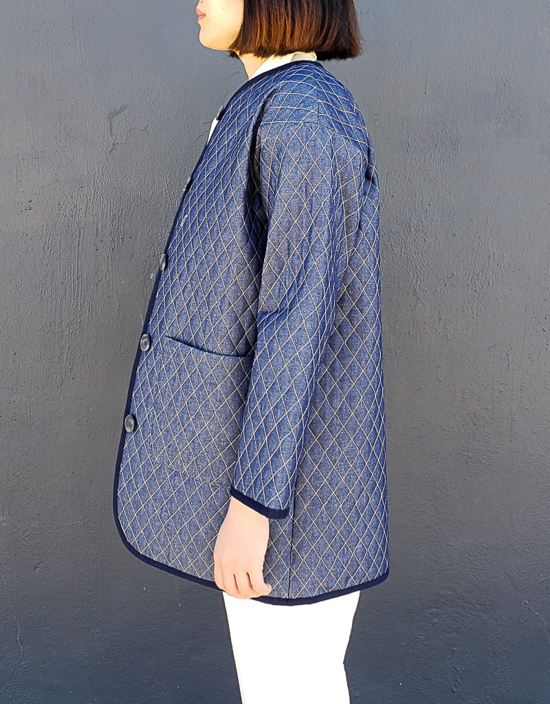 Emerson Fry Quilted Denim Topper Jacket