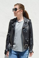 Schott NYC Vintaged Leather Motorcycle Jacket- More Colors