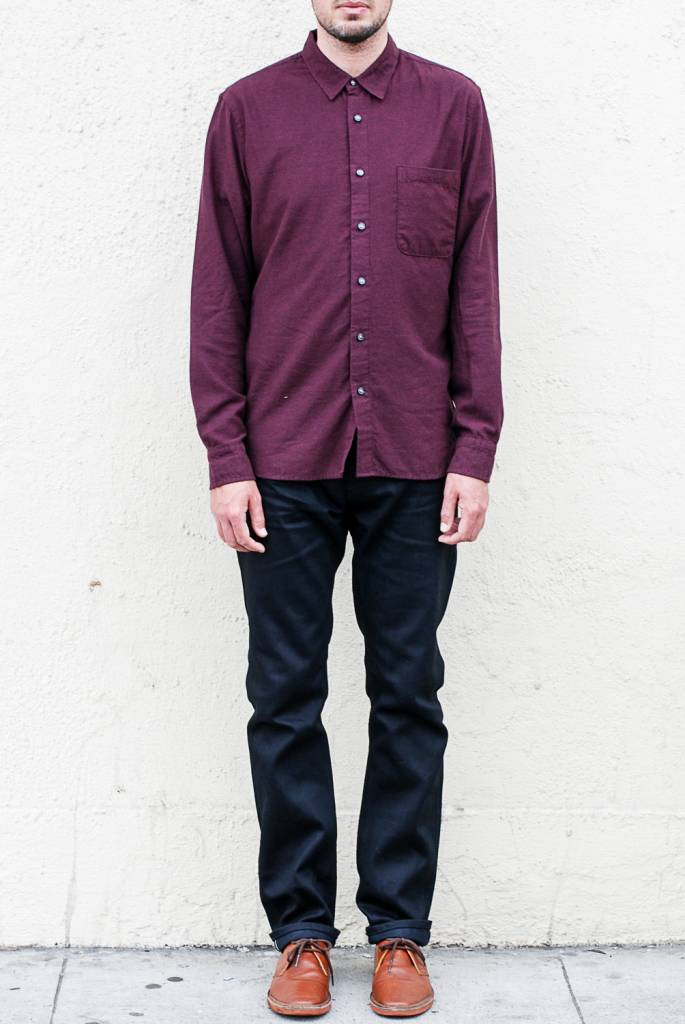 Kato Slim French Seam Brushed Shirt