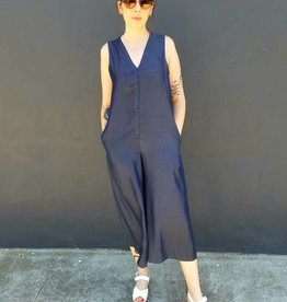 Button Down Tencel Jumpsuit