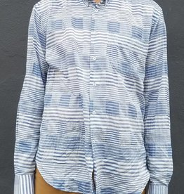 Naked and Famous Denim Striped Windowpane Regular Shirt