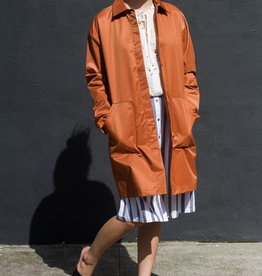Acote Hidden Placket Trench Coat