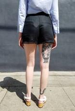 0039 Italy Fortuna Fancy Linen Pom Pom Shorts