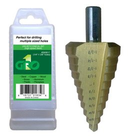 "Gro1 1/4""  to 1-3/8"" Step Drill Bit"