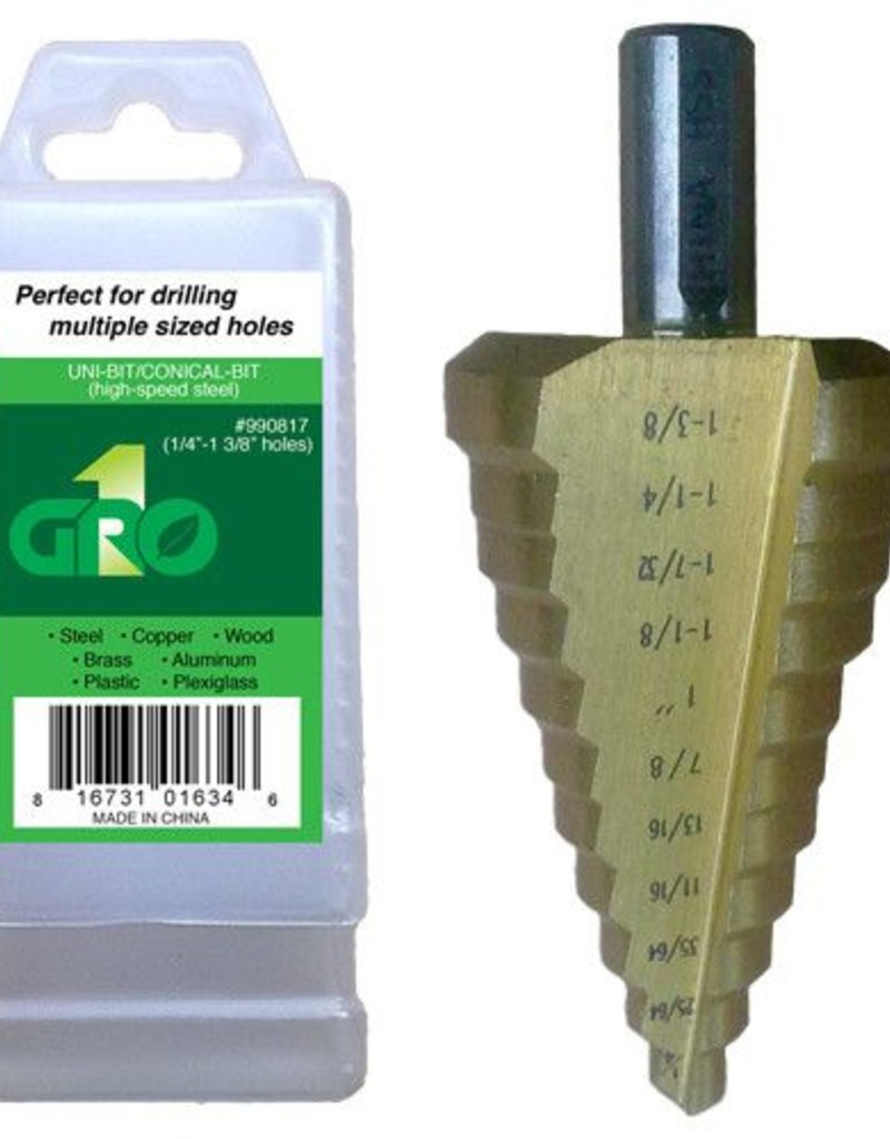 "Gro1 1/4""  to 1-3/8"" Step Drill Bit"