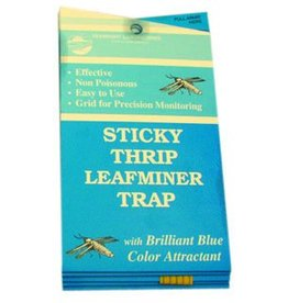 Seabright Laboratories Stick Thrip Leafminer Trap 5 Pack (Blue Sticky Trap)