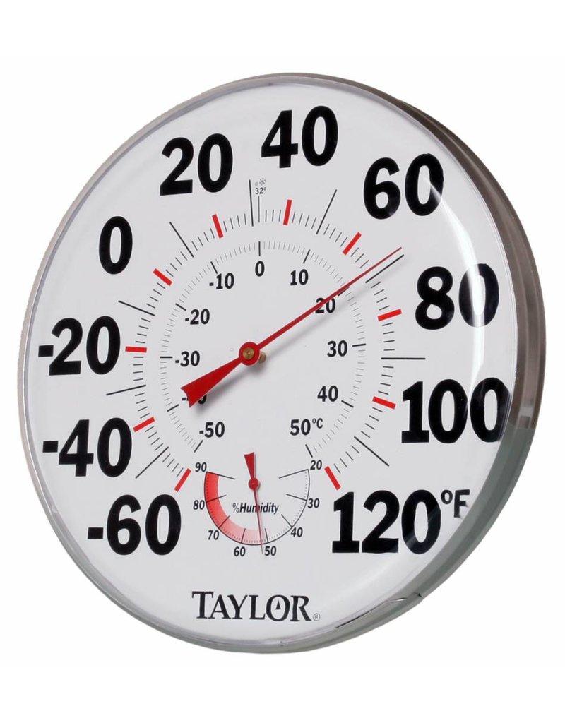 "Hydrofarm Taylor Indoor/Outdoor 21"" Thermometer Hygrometer Gauge"