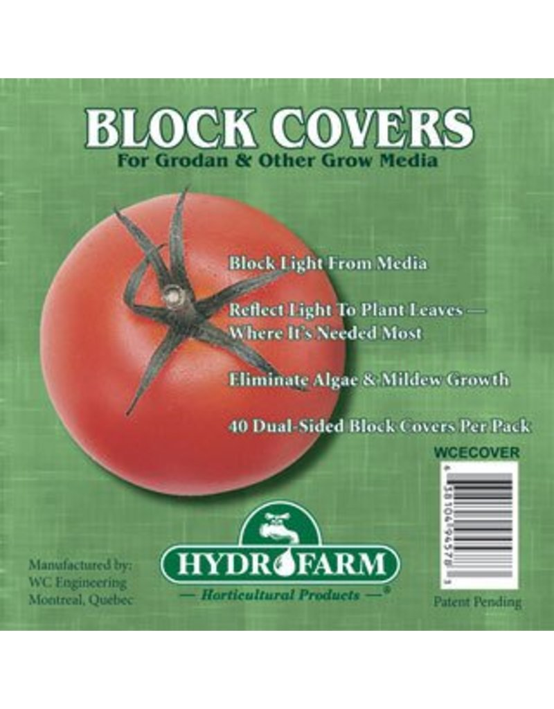 "Hydrofarm 4"" Rockwool Block Cover"