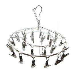 24 Clip Hanging Metal Drying Rack