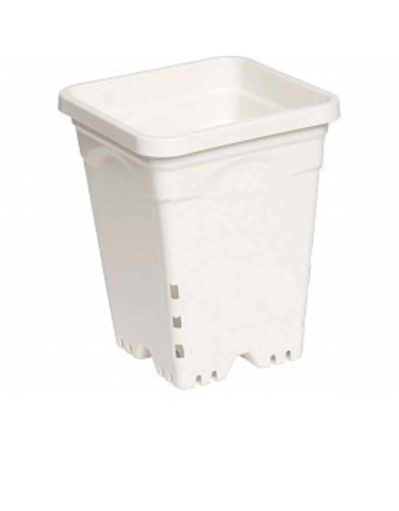 Hydrofarm White Square Pot