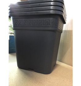 Gro Pro Gro Pro Black Square Pot