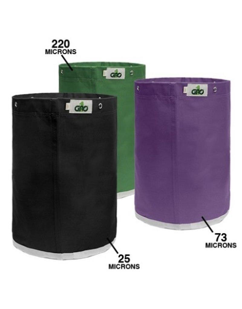 Gro1 Grow1 Extraction Bags 5 gal. Bubble bag 3 bag kit