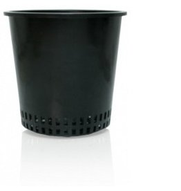 "Hydrofarm 6"" Round Mesh Bottom Pot single"