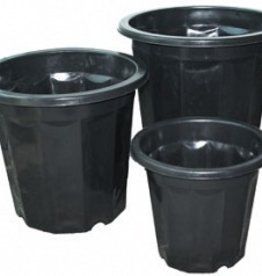 Hydrofarm Black Plastic Planter 7 Quart single