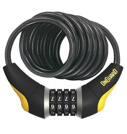 OnGuard OnGuard, Doberman 8031, Coil Cable with Combination Lock, 12mm x 185cm