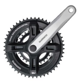 Shimano Shimano, FC-M131, Crankset, 6/7/8 sp., 170mm, 48/38/28T, Riveted, Square, 47.5 mm, Silver