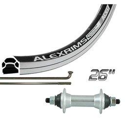 The Wheel Shop The Wheel Shop, 26'' Rear Alex ACE-17 Black/ FM-31 Silver, 36 Steel Spokes, Bolt-on Axle, Freewheel
