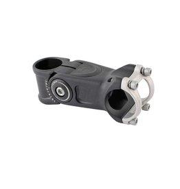 EVO EVO, Satori Compact, Adjustable Threadless Stem, ST: 28.6mm, -20 to 50deg, C: 31.8mm, Black, 110mm