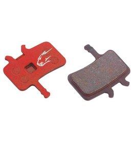 Jagwire Jagwire, Semi-Metallic Pads Hydraulic Disc Brakes - Red  Magura Louise(1999-2001) /Clara 2000, PAIR