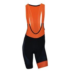 Biemme Biemme, Men's Bib Shorts, Legend, Black/Orange Fluo, LG