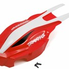 TRA Canopy, front, red/white - ATON