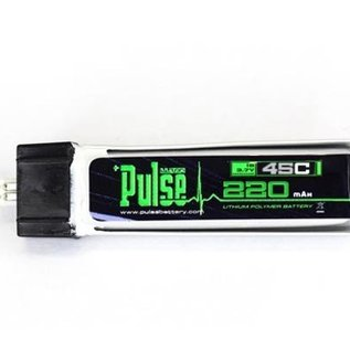 Pulse PULSE 220mAh 1S 3.7V 45C Battery w/ Eflite Connector