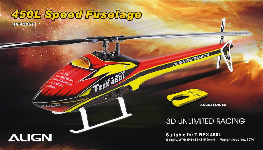 450l Scale Fuselage - Rd Yel