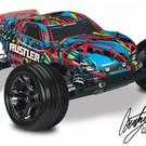 TRA 1/10 Rustler 2wd RTR VXL with TSM Brushless Cortny Force