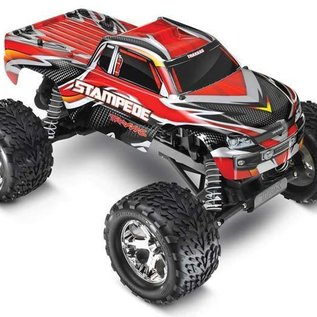 TRA STAMPEDE 1/10 RTR TQ 2.4GHZ TITAN 12-T, XL-5 WATERPROOF RED