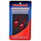 Carriers, stub axle (red-anodized 6061-T6 aluminum)(rear)(2)