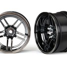 Wheels, 1.9' split-spoke (black chrome) (wide, rear) (2) -