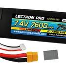 7.4V 7600mAh 75C Lipo Battery with XT60 Connector + CSRC adapter