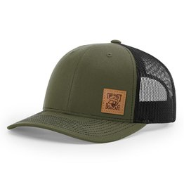 Hat Leather Patch Trucker Hat in Loden 5f81104f1e94
