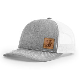 Hat Leather Patch Trucker Hat in Heather Grey d4c3598aa8a3