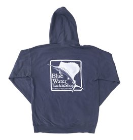 Sweatshirt Blue Water Hooded Sweatshirt in Anchor Slate