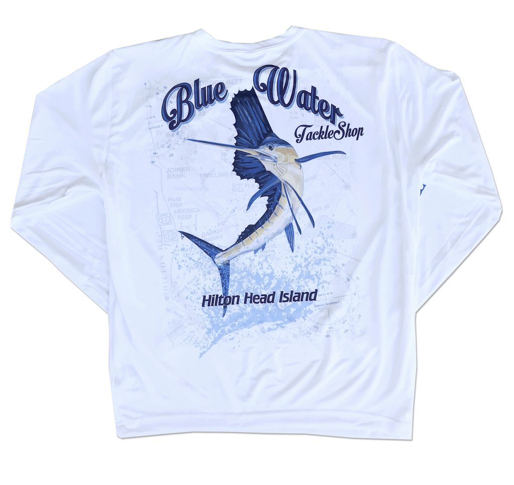 Bluewater Blue Water Sublimated Sailfish Long Sleeve Tee