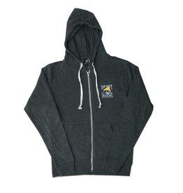 JAmerica Full-zip Hooded Sweatshirt in Black