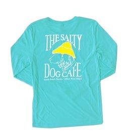 T-Shirt Triblend Long Sleeve in Tahiti Blue