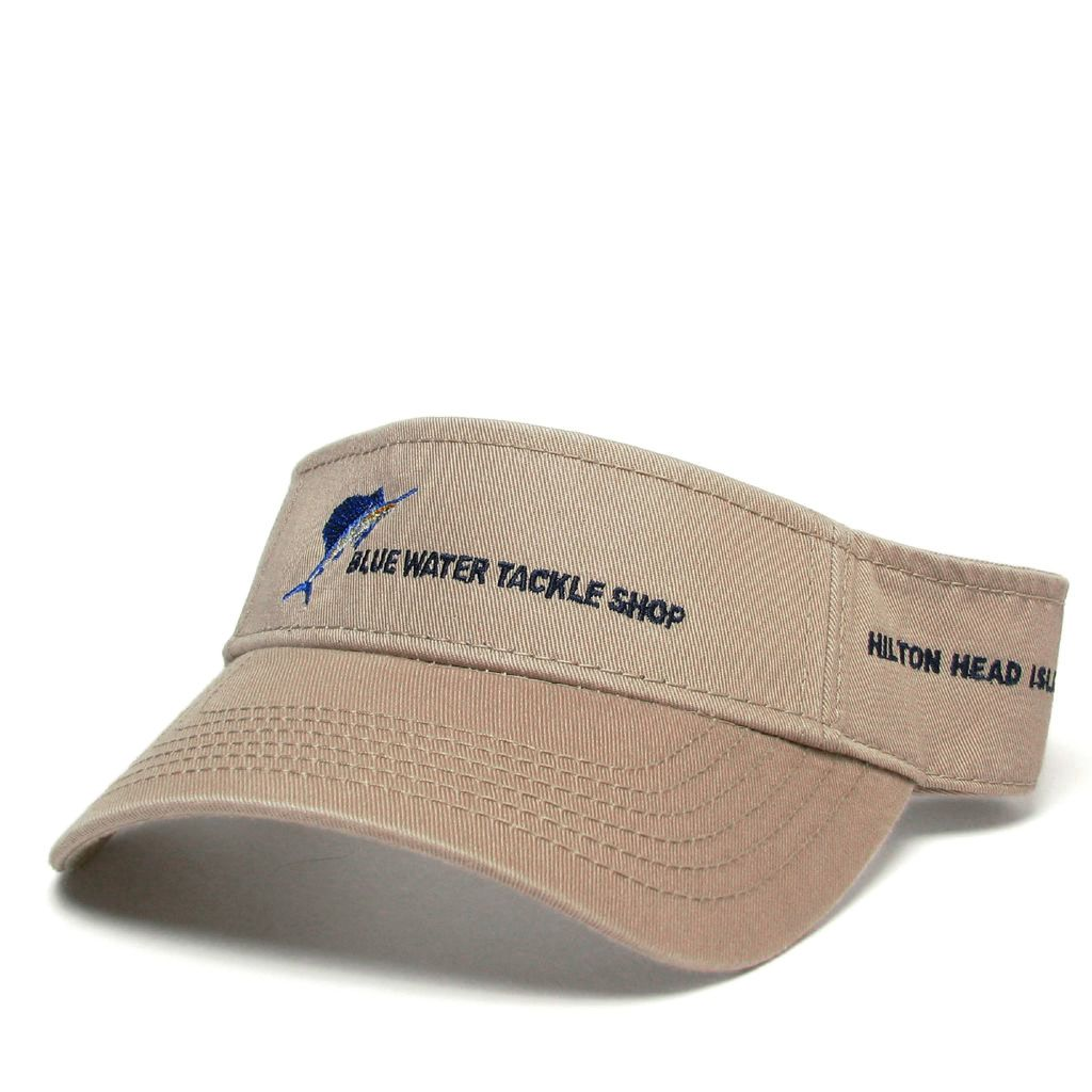 Hat Blue Water Visor in Khaki