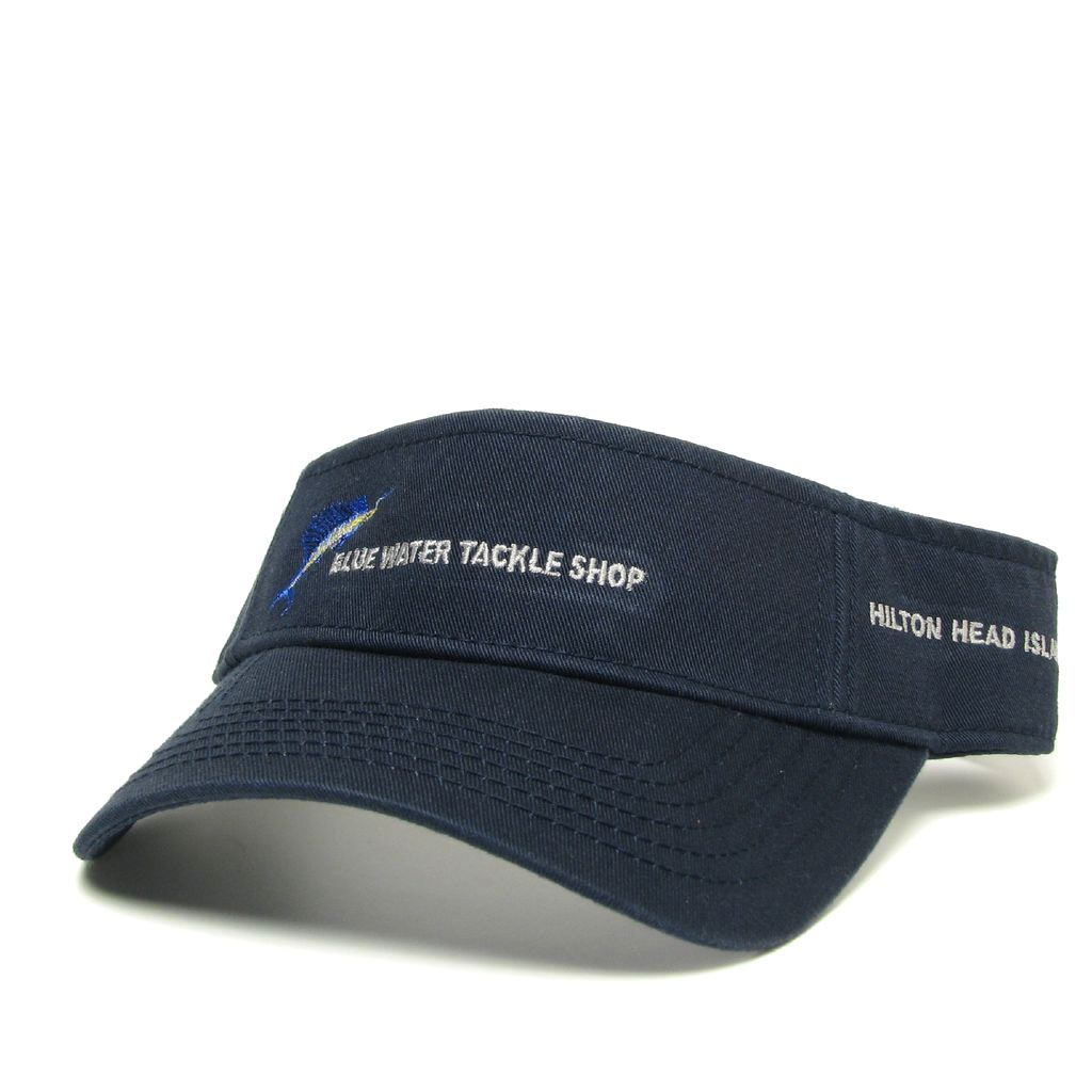Hat Blue Water Visor in Navy
