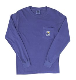Comfort Colors Comfort Colors® Long Sleeve Pocket Tee in Flo Blue