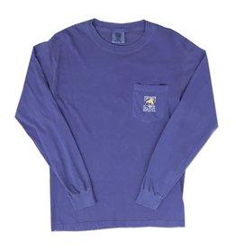 Comfort Colors Comfort Colors® Long Sleeve Pocket Tee in Flo Blue