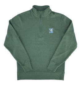 1/4 Zip in Nurture Green