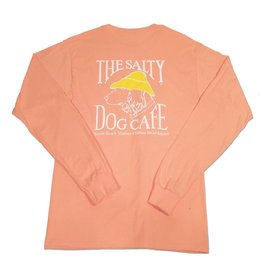 Hanes Hanes Beefy Long Sleeve Tee in Candy Orange