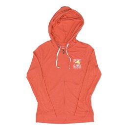 Outerwear Women's Full Zip Slub in Coral Sunrise
