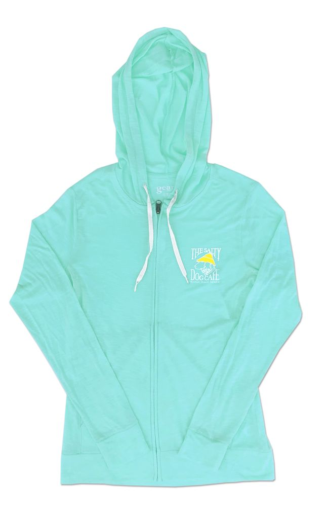 Outerwear Women's Full Zip Slub in Turquoise