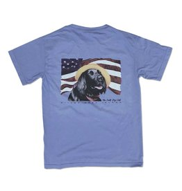 T-Shirt Diplomat Dog in Washed Denim