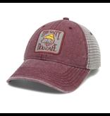 Hat Dashboard Trucker Hat in Burgundy