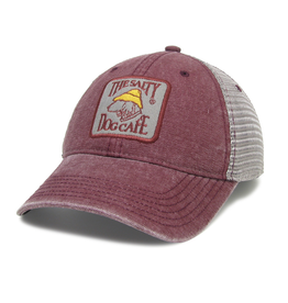 Hat Dashboard Trucker Hat in Burgundy